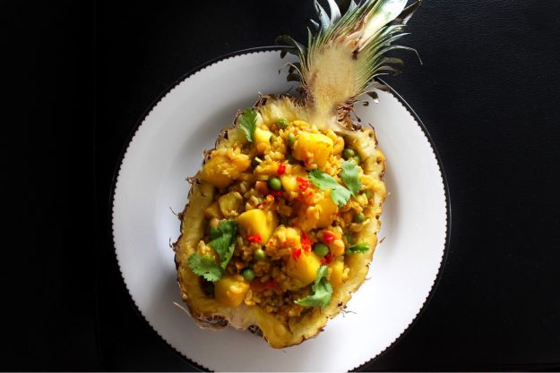 Pineapple Fried Rice, USA Rice, Recipe