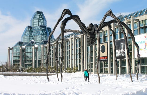 Ottawa In The Winter, The National Gallery of Canada, museum, Ottawa, spider
