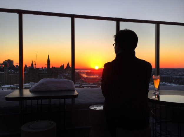 Ottawa In The Winter, Andaz Ottawa, Winterlude, weekend getaway Ontario, best view in Ottawa