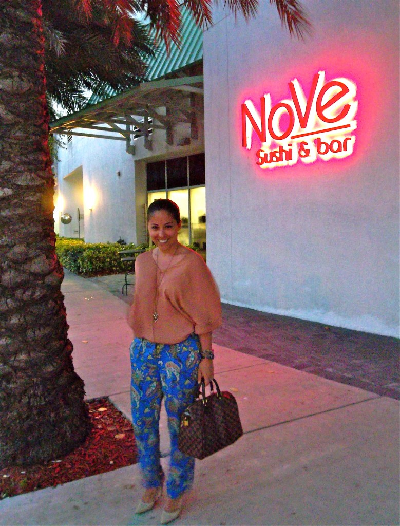 For My First Dinner In Miami I Dined At Nove Sushi Bar Which Came Highly Recommended By Local Foodaholic Maria
